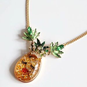 Betsey Johnson Summer Picnic Pineapple Necklace